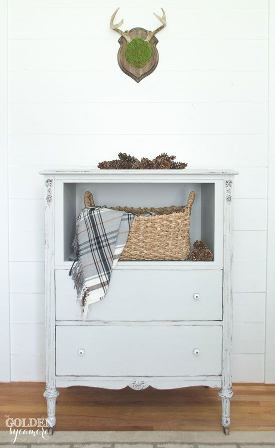 A Trash To Treasure Repurposed Dresser Reveal Using Maison Blanche Paint In  Silver Mink