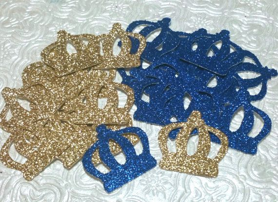 Royal Little Prince decor Confetti  use on tables or scatter inside invitation super Cute! Royal Little Prince 1st birthday party or baby shower decor