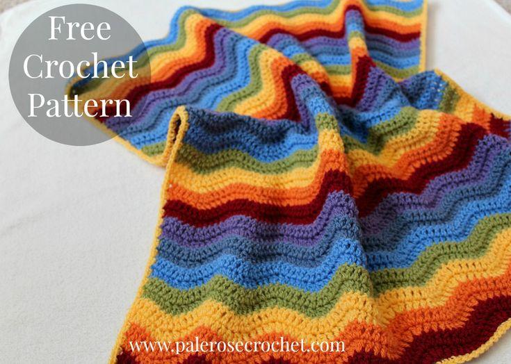 Encantador Crochet Granny Patrón De Ondulación Manta Imagen - Ideas ...