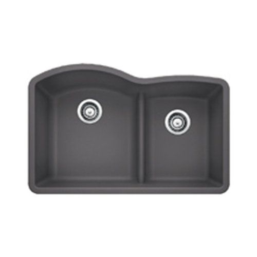 Blanco 441591 Diamond 1.75 Low Divide Under Mount Double Bowl Kitchen Sink, Large, Cinder Blanco http://smile.amazon.com/dp/B00I0R3L2E/ref=cm_sw_r_pi_dp_wDe5wb05PGR9T