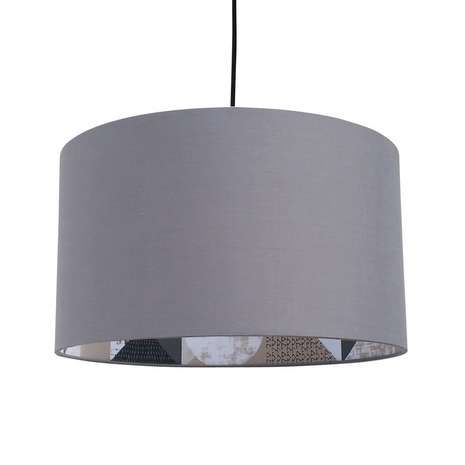 Complement your modern décor with this grey pendant light shade, styled with a printed inner contemporary pattern and a textured cotton finish that will give any room a sophisticated edge.