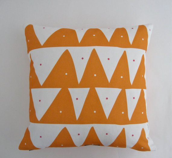 Scandinavian inspired pillow cover in Mandarin by TroskoDesign