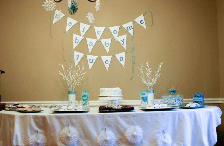 Winter Wonderland Baby Shower | CatchMyParty.com