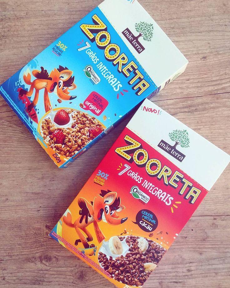 Recebemos da @maeterraoficial esse lançamento super legal: o Zooreta o primeiro cereal matinal com 7 grãos integrais orgânico e com 30% menos açúcar. Nos sabores original e cacau possuem aveia flocos de arroz trigo e milho quinua linhaça chia dentre outros ingredientes. Adorei a embalagem ótima para estimular a criançada a comer mais saudável. Vou experimentar! (Preço que encontrei num site: R$750 o pacote com 250g)  #recebidos #presskit #cerealmatinal #maeterra #organico #alimentoorganico…
