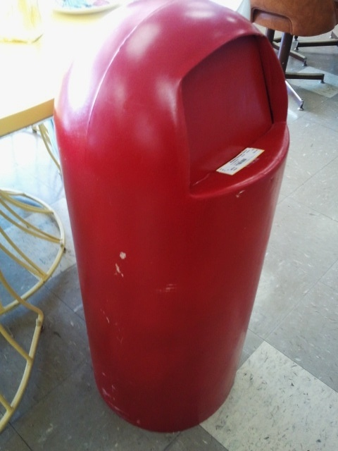Red Vintage Trash Can