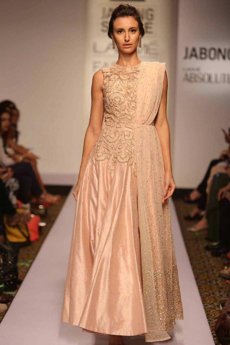 Pink long designer anarkali suit collection of salwar kameez