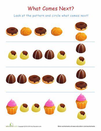 Free Worksheets pattern activity for kindergarten : 1000+ images about kids worksheets on Pinterest | Bingo, Each day ...