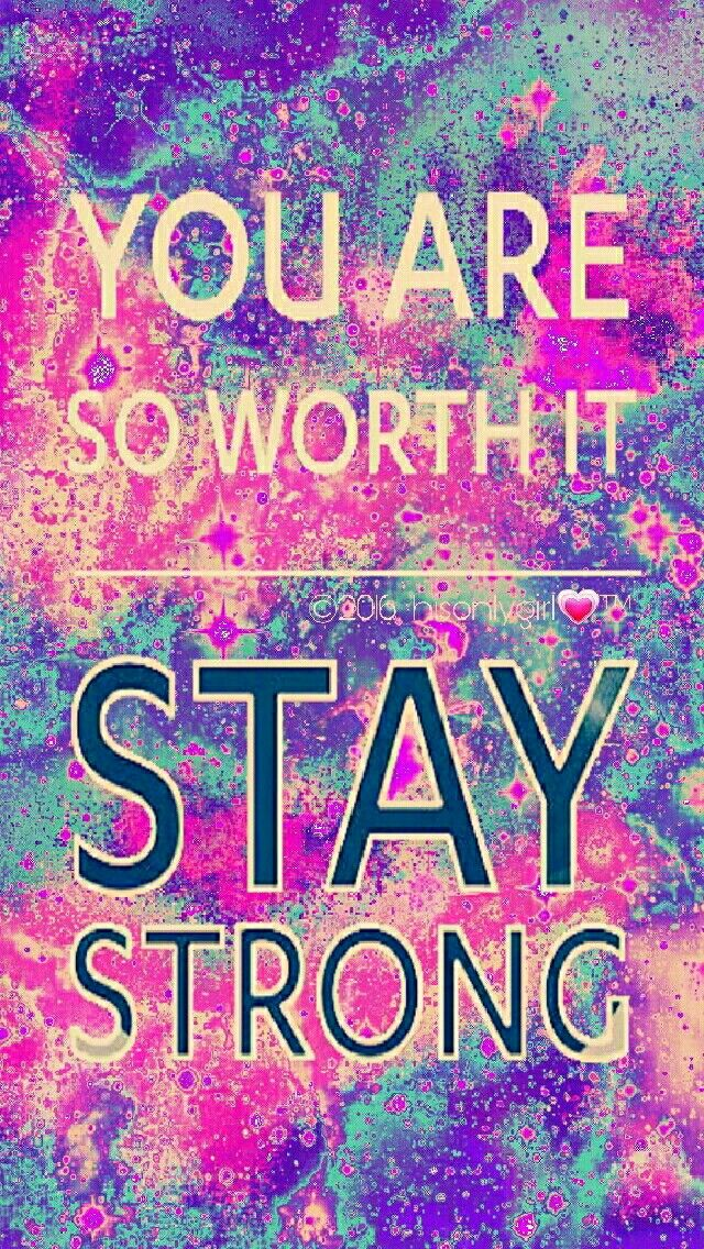 Stay Strong galaxy iPhone/Android wallpaper I created for the app CocoPPa.
