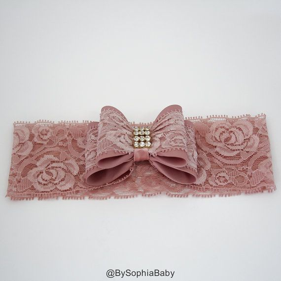 *** PALE PINK DOUBLE BOW HEADBAND*** --->> MANY COLORS AVAILABLE <<--- Please see link: https://www.etsy.com/shop/BySophiaBaby/search?search_query=908&order=date_desc&view_type=gallery&ref=shop_search  --->> FREE SHIPPING <<-- when you spend $50 in our shop, please see code on our shop announcement.   *BOW HEADBAND DESCRIPTION*:  - Unique Handcraft Double Bow Embellished with high quality Rhinestones placed on a 2 Lace Headband. - Bow is made of Lace, Fabric and Rhinestone, the bow size its…