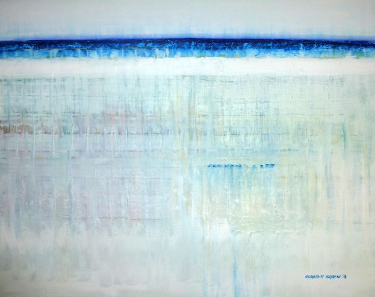 Blue Horizontal No.02-16 by Darragh Hayden.Acrylic on canvas. 82cm x 102m. Enquire about this artworkConnect via :