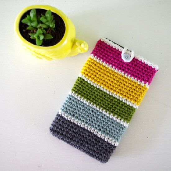 Make a cute case for your tablet while using up that leftover yarn - a great stash buster crochet project!