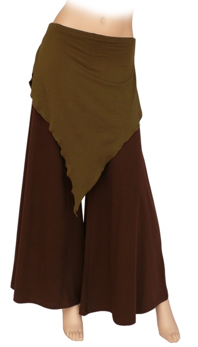 Incredibly flowy trousers: Nebula in olive green/brown