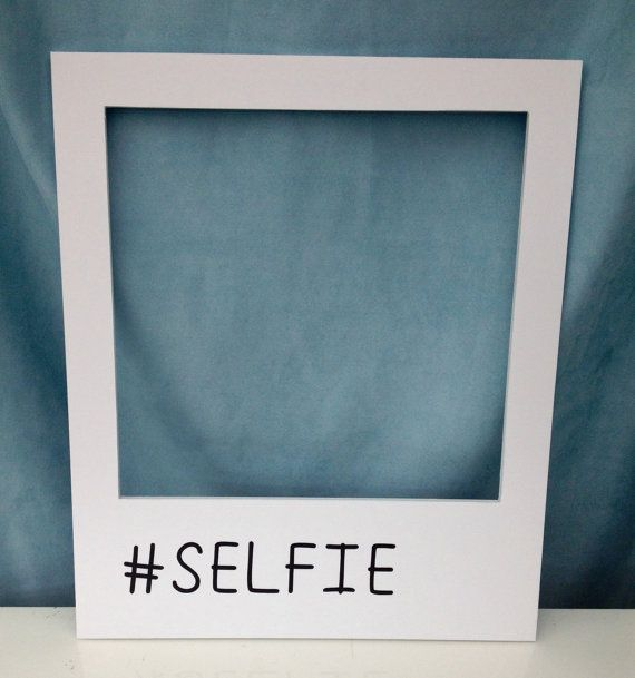 Medium #SELFIE polaroid prop frame! Personalise with any hash tag, Photobooth, Weddings/Birthday/Engagement/Party/Event