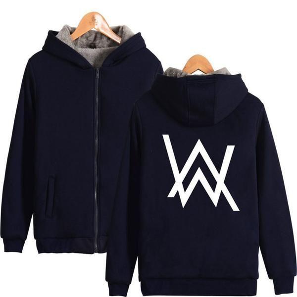 Alan Walker Hoodie Sweatshirt Zipper Coat Winter Cosplay Costume Jacket 2 color