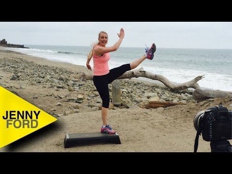43 MINUTES--Step Aerobics Basic in Malibu- JENNY FORD - YouTube                                                                                                                                                                                 More