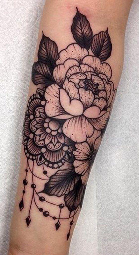 Rose Arm Sleeve Tattoo - http://MyBodiArt.com