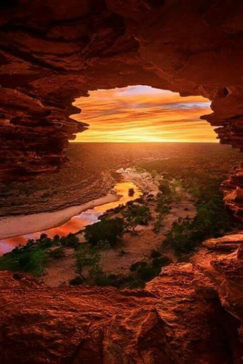 Sunrise in Nature's Window, Kalbarri