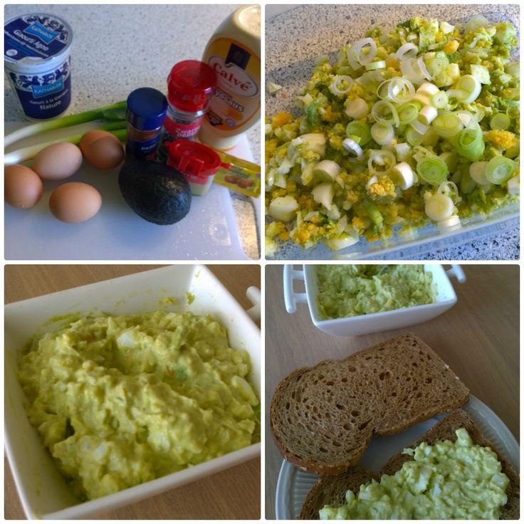 Home made challenge | eiersalade avocado