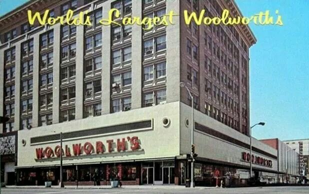 Woolworths.....I can still remember all the noise and bustle in the cafeteria.