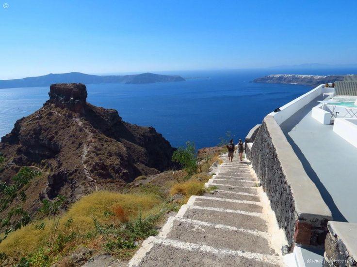 The Skaros rock in Imerovigli, the balcony of the Aegean