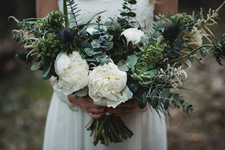 unstructured green and white bouquet - Florist Fox and Rabbit - Perth Western Australia