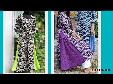 Double Slit Pleated Panel Maxi Tunic Complete Drafting, Cutting & Making | DIY - YouTube