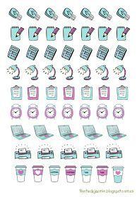 FREE printable planner stickers | Noches de Jazmín: Pegatinas: Vuelta a clase
