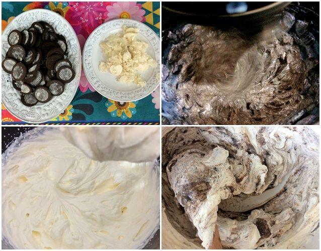 Veja como preparar um delicioso e caseiro sorvete de Oreo ou Negresco com apenas três ingredientes: biscoitos, leite condensado e creme de leite fresco!