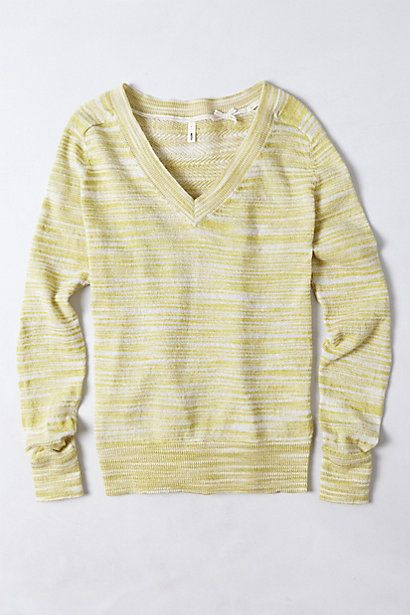 Marled Sheer Pullover