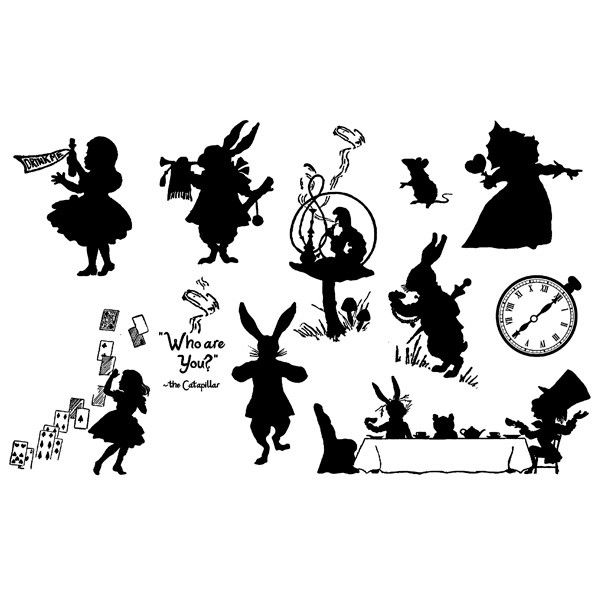 alice in wonderland clock clipart - photo #38