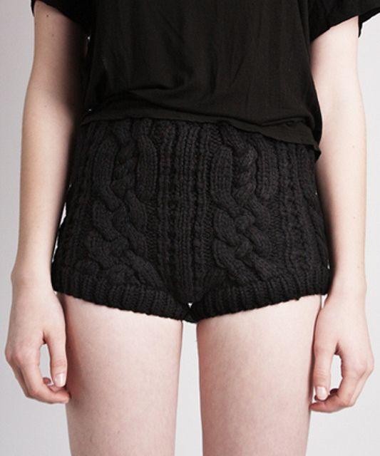 knitted smokin hot pants