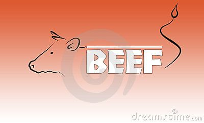 Beef logo on the red gradient