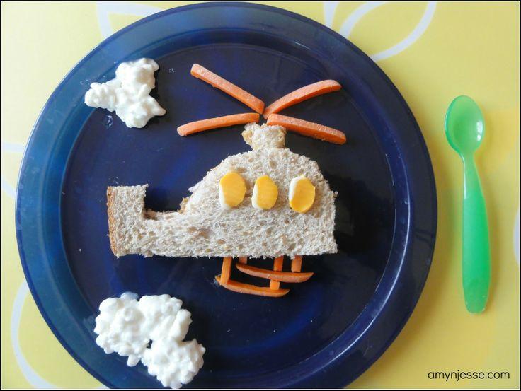 Creative Kid Snacks: helicopter!Fun Food, Kids Lunches, Kid Snacks, Food Ideas, Creative Snacks, Lunches Ideas, Cottages Chees, Creative Kids Snacks, Kids Food