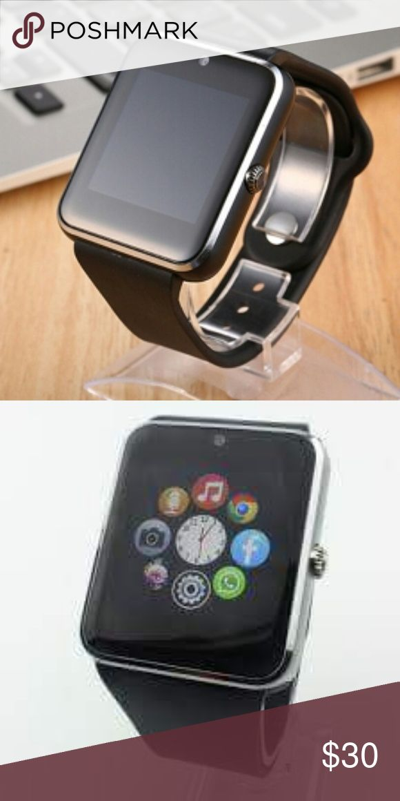 IOS and Android watch New 2017 smart watch, improved touch screen, improved sound, improved camera, waterproof, for all types of phones: androids, samsung, iphones. Talk, text, make and recive calls Camera installed, pedometer, sleep timer, alarm, sleep monitor, anti lost, anti theft, security, sim and SD port installed, fbook, twtr and IM, battery alert,quick charge, includes instructions and charger. Unlocked for any cell phone device or company  1 x smart watch 1x charger 1x box & Other…