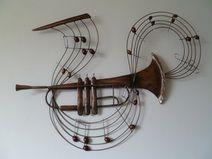 Unique Wanddeko wanddeko metall trompete ein Designerst ck von Dekogifts bei DaWanda