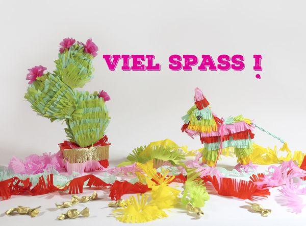 DIY Mini Piñatas (free template + instruction video)