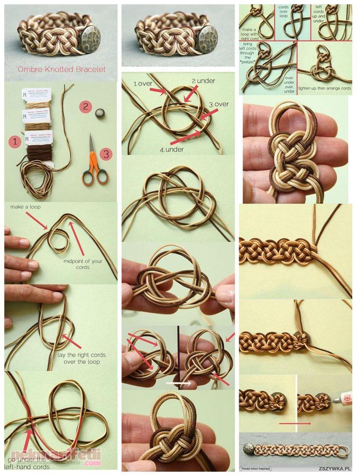 Sonsuz düğümlerden bileklik yapımı | Takı Tasarım | Pek Marifetli!
