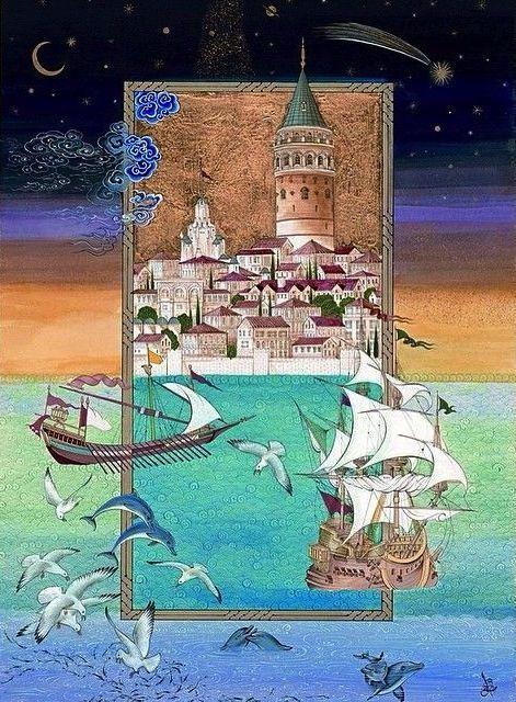 Minyatür: Özcan Özcan || Galata Kulesi
