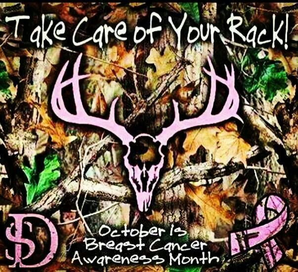 Hunting humor for October breast cancer awareness.