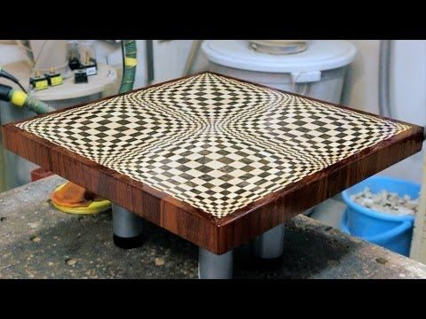 "Making a ""Butterfly"" 3D end grain cutting board - YouTube"