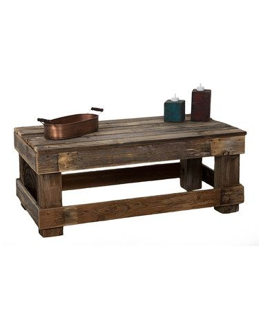 Natural Barnwood Coffee Table #zulily #zulilyfinds