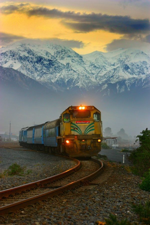 NZ has a great scenic rail system, stretching from Auckland to Wellington, Picton to Christchurch, and Christchurch to Greymouth, passing right through the Southern Alps