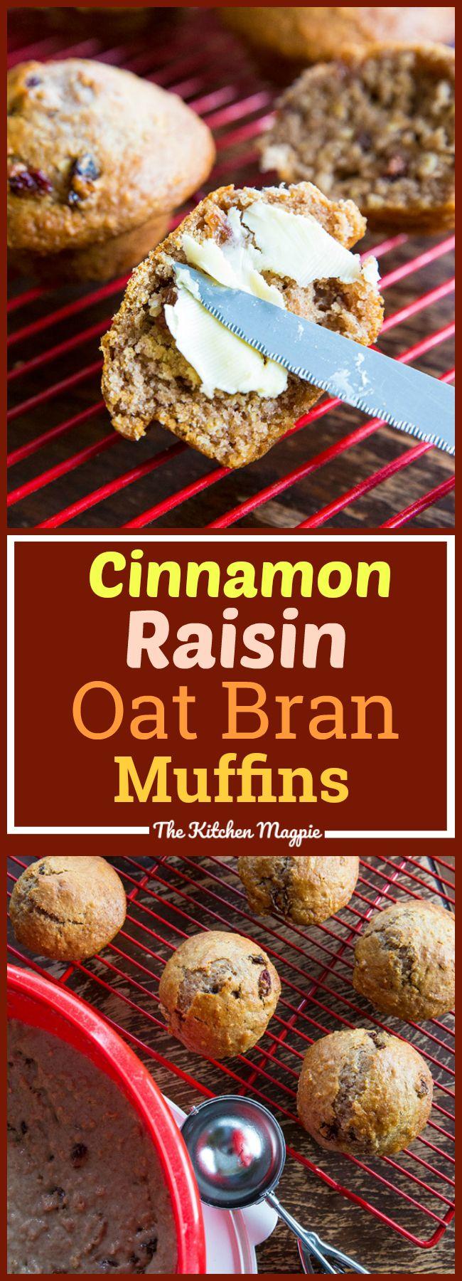 Cinnamon Raisin Oat Bran 6 Week Refrigerator Muffins, the perfect delicious twist to the classic refrigerator muffin!