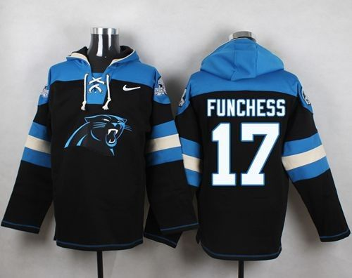 Nike Panthers 17 Devin Funchess Black Player Pullover NFL Sweatshirt Hoodie