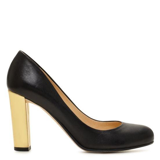 kate spade | leslie pumpSpade Leslie, Design Shoes, Design Clothing, Leslie Pump, Classic Black Pump, Black Gold, Gold Heels, Pump Black, Kate Spade