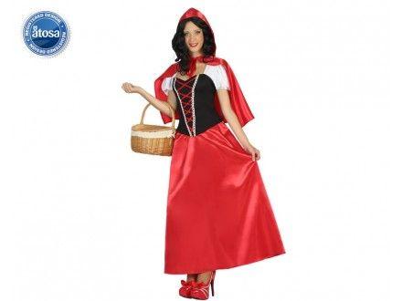 Disfraz caperucita mujer largo, ideal para cuentos y teatros infantiles. En www.martinfloressl.es lo podrás encontrar