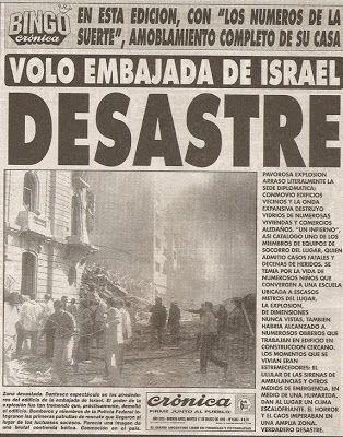 Diarios Históricos: Atentado a la Embajada de Israel, 1992 VER MAS