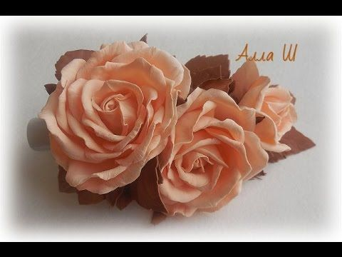 МК  Заколка-стрела с розами из фоамирана.