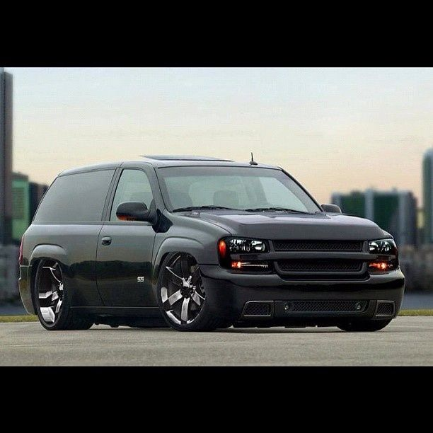 Trail Blazer SS slabbed bagged air ride 2 door black | Chevys and more | Pinterest | Air ride ...