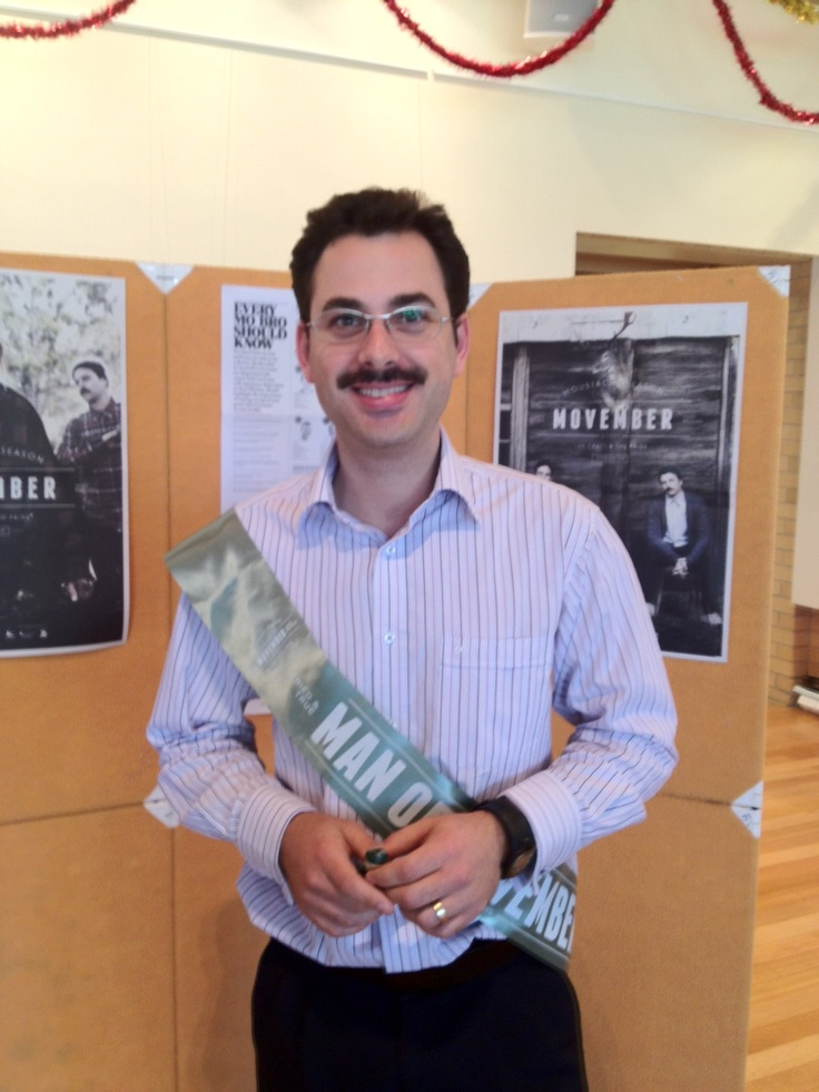 Our Man of Movember...who bares a striking resemblance to Borat :) was Tomas from Libraries. #Charity